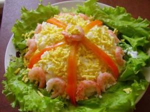 Диетический салат «дары моря»