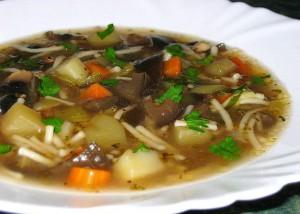 Картофельный суп сбаклажаном. Рецепт и видео-рецепт