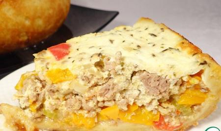 Пирог из сладкого перца и фарша – кулинарный рецепт