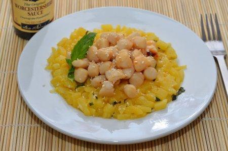 Севиче из ананаса с морским гребешком, пошаговый рецепт с фото